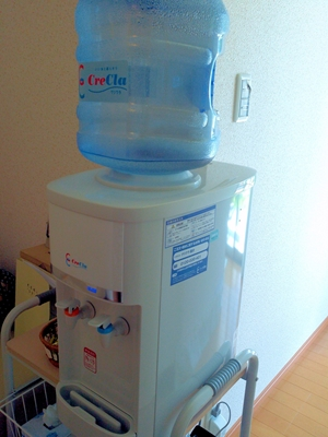 もりの治療院に設置しているクリクラの水